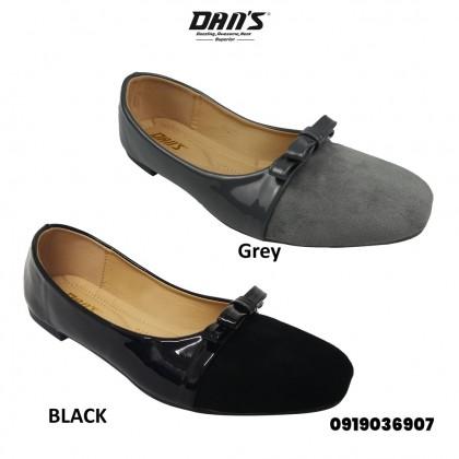 DANS Ladies Flats Shoes -Black/Grey 0919036907(S4)