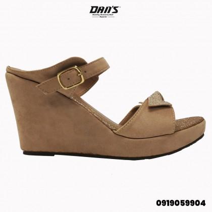 DANS Ladies Wedges Shoes -Black/Apricot 0919059904(S2)