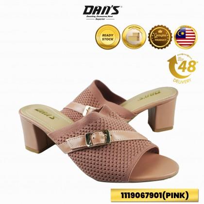 DANS Ladies Heels Shoes - Black/Pink/Khaki 1119067901 (V4)