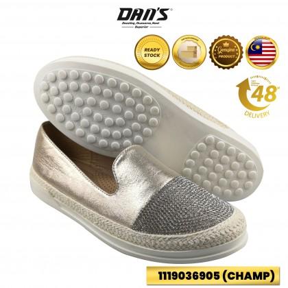 DANS Ladies Flats Shoes - Silver/Champ 1119036905 (O5)