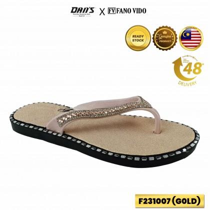 DANS x FV Ladies Slipper Shoes - Black/Gold F2310007 (R5)